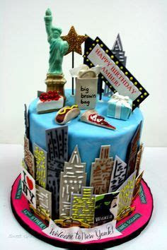 A Broadway themed Topsy Turvy Quinceanera birthday cake