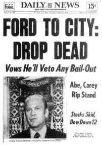 The Drop Dead cover in 1975