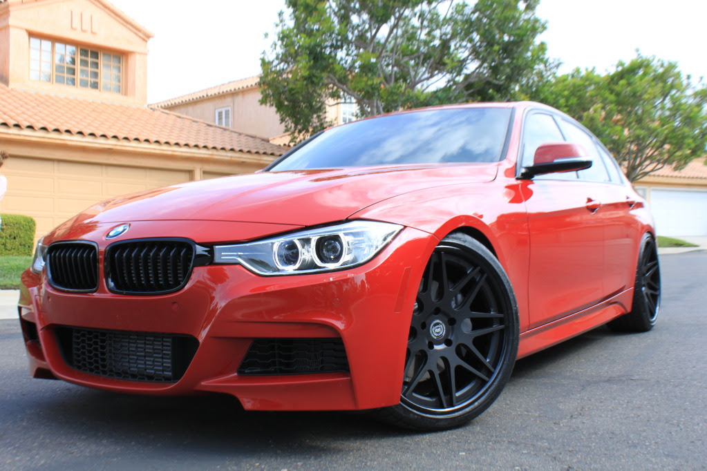 Melbourne Red BMW F30 335i M Sport 20\u0026quot; DPE CS7 Feast Your Eye Sockets!!