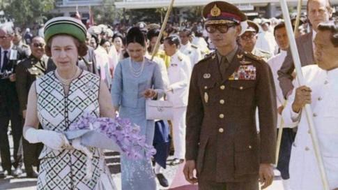 Queen Elizabeth visited Thailand in 1972