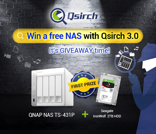 QNAP -  Win a free NAS with Qsirch 3.0