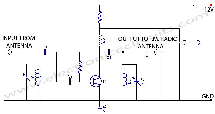 Fm antenna amplifier booster circuit diagram circuit diagram images fm antenna amplifier booster circuit diagram fm booster active fm antenna amplifier circuit fm asfbconference2016 Image collections