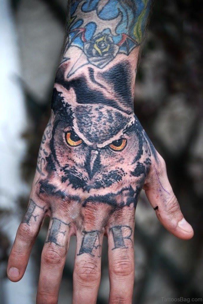 61 Wonderful Owl Tattoos On Hand