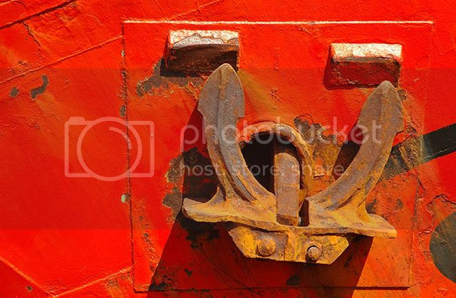 The Rusty Anchor of the Naumon in Port Vell, Barcelona [enlarge]