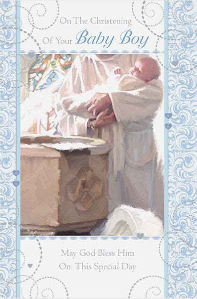 Baby Boy Christening Congratulations Card