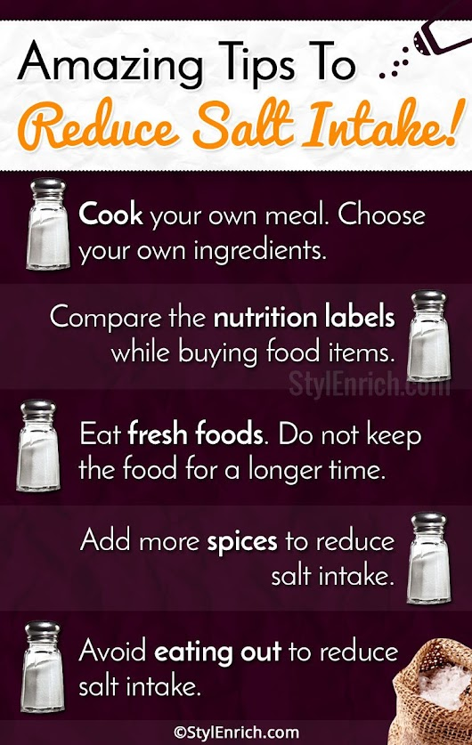 Tips To Reduce Salt Intake and Live Healthy Lifestyle!