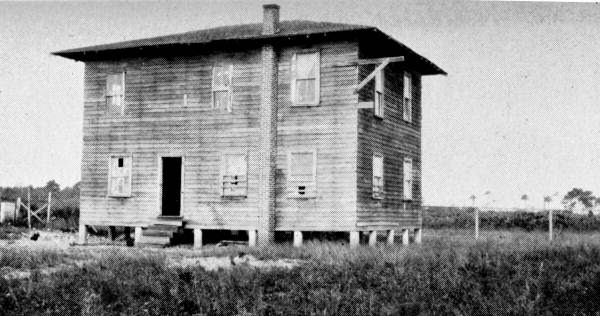 Rural Negro schoolhouse near Jacksonville Beach - Duval County, Florida