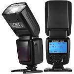 universal wireless camera flash light speedlite gn33 lcd display for canon nikon sony olympus pentax dslr cameras