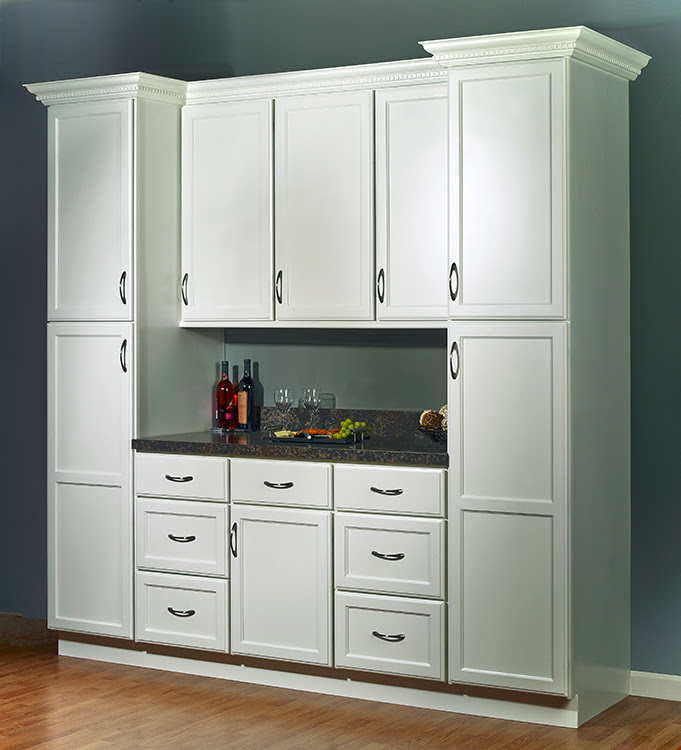 "JSI's Plymouth White ""One Wall"" Kitchen Set"