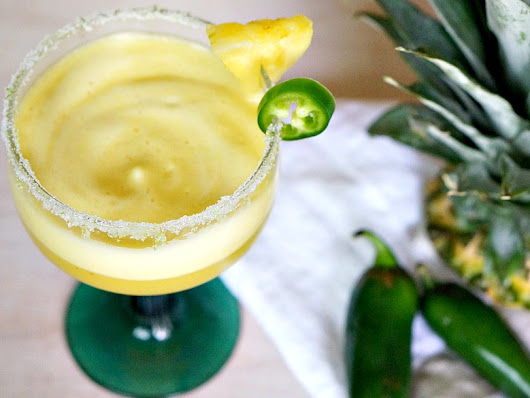 Spicy Pineapple Margarita: Cinco de Mayo Cocktail Recipe - Forks and Folly