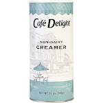 Cafe Delight Non-Dairy Creamer Canisters, 12 Ounce -- 24 per case.