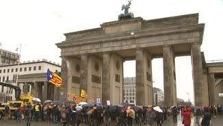 Manifestació a la porta de Brandenburg, de Berlín