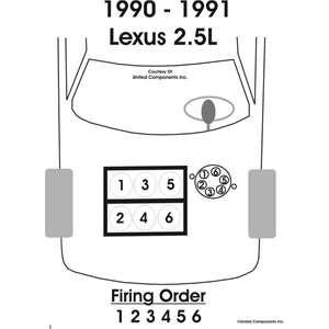 schematics and diagrams: Firing Order for 1991 Lexus ES 250?