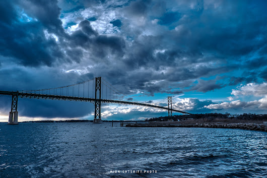 Storm Clouds over the Mt Hope Bridge