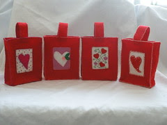Embroidered Valentine's Day Bags
