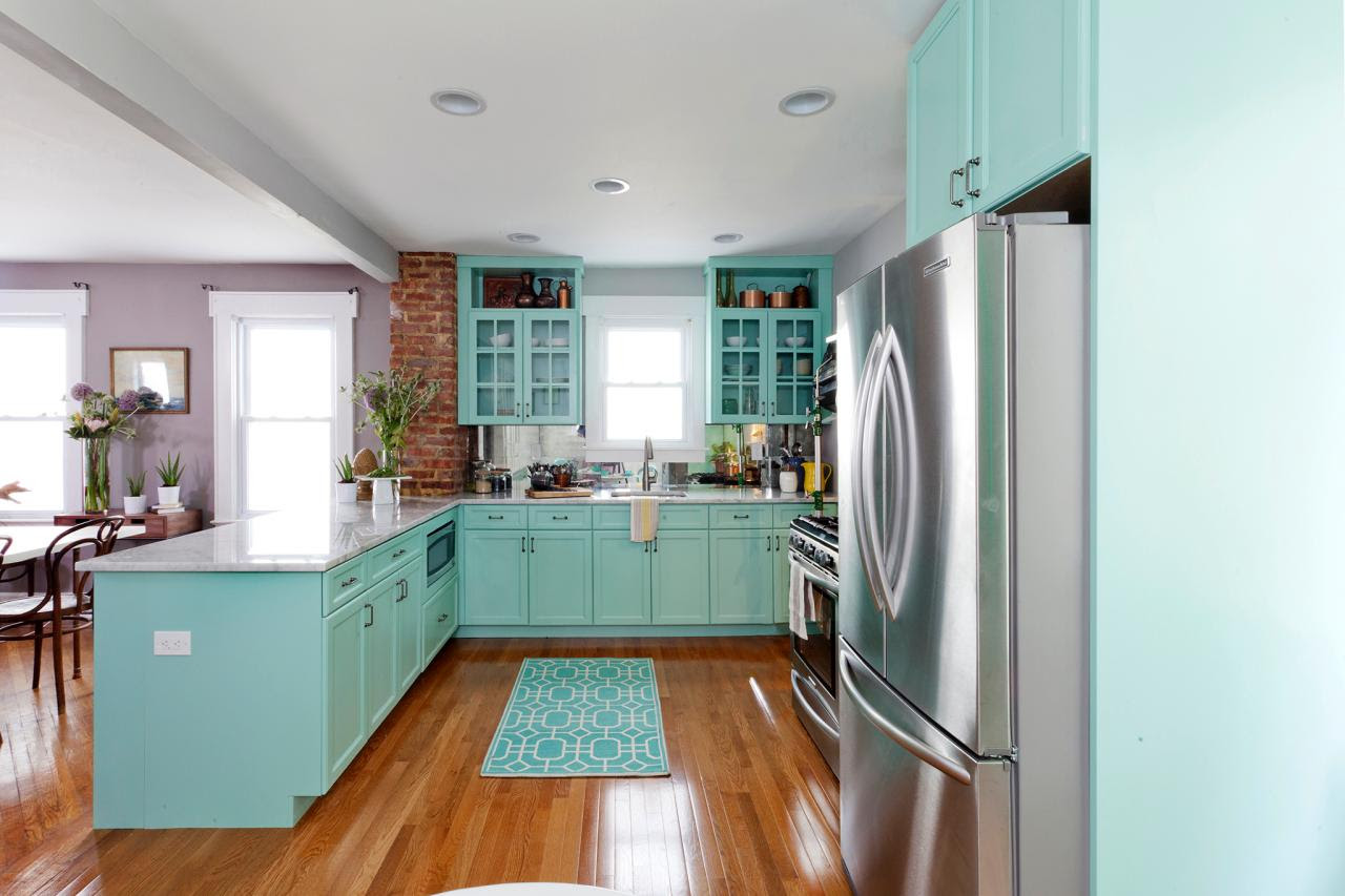 Home Architec Ideas Teal Kitchen Cabinets Ideas