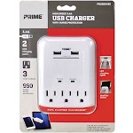 Prime Wire & Cable PBUSB343S - Surge Protector - 950 Joules Grounded - White