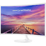Samsung C32F391FWN 32 inch Curved LED Monitor, White