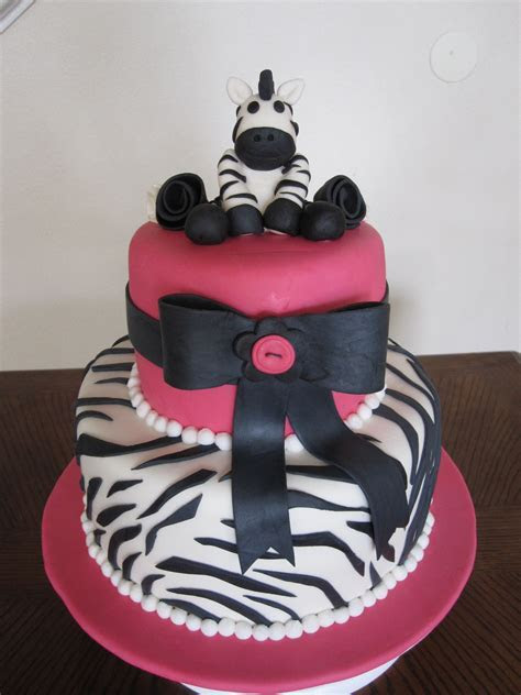 Ms. Cakes: Zebra Baby Shower Cake