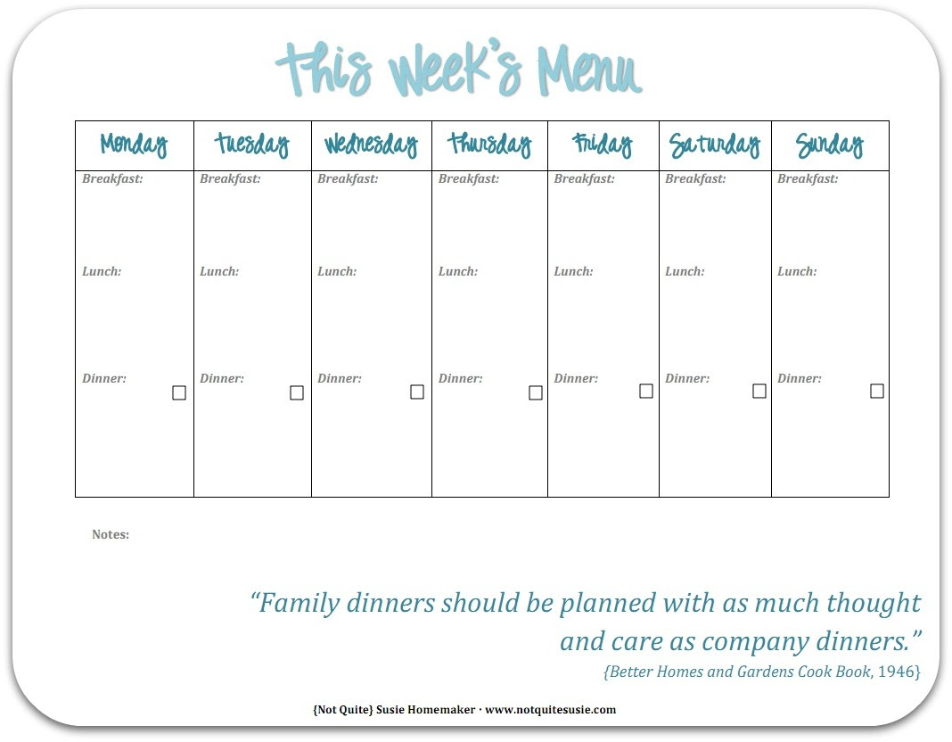 maisdeumbilhao passamfome: free printable weekly meal planner {not