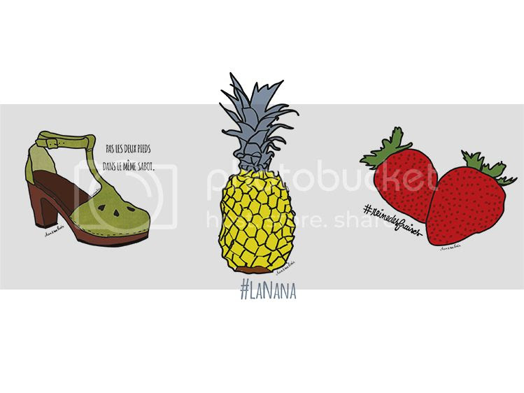 wallpaper, ananas, fraise, clog, dessins