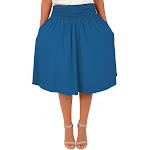 Women's and Plus Size Pocket Skirt X-Large (12-14) / Teal by Stretch Is Comfort
