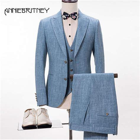2017 Latest Coat Pant Designs Smoking Grey Men Suit Slim
