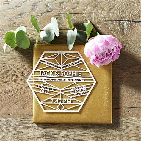 bespoke custom laser cut wedding invitations by laura m