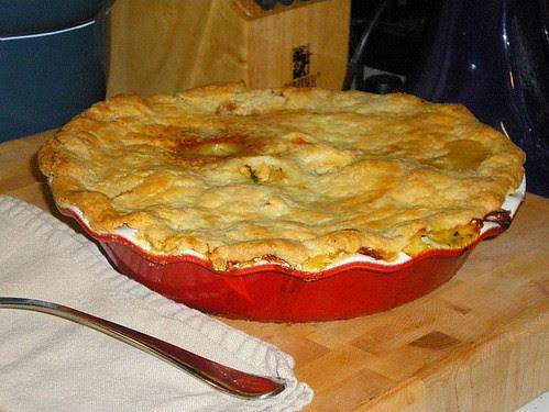 Chicken, Butternut Squash & Spinach Pot Pie