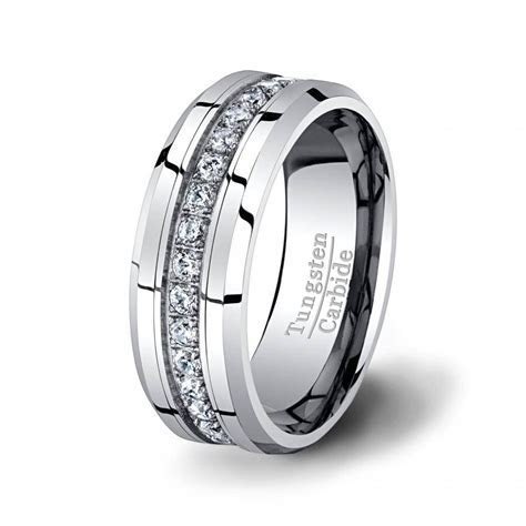 15 Inspirations of Men's Cz Wedding Bands