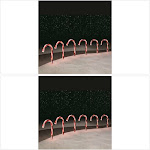"""Trim A Home 6 PC Warm White 10"""" LED Candy Cane Pathway"""