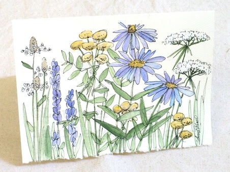 http://www.laurierohner.com/garden-wildflowers-watercolor-nature-art-blank-card.html