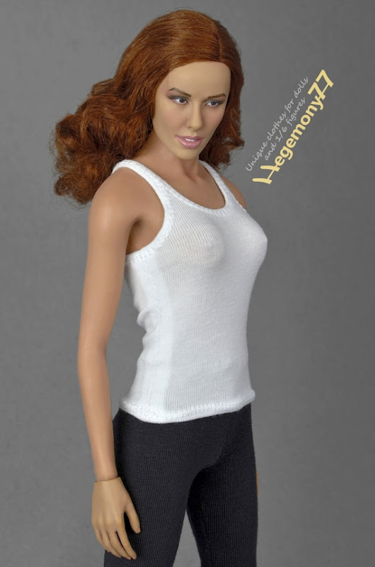 1/6th scale white tank top for female action by Hegemony77com