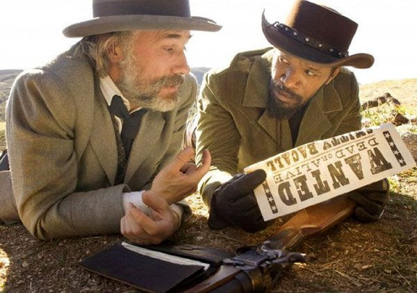 2013 Best Supporting Actor winner Christoph Waltz and Jamie Foxx in DJANGO UNCHAINED.