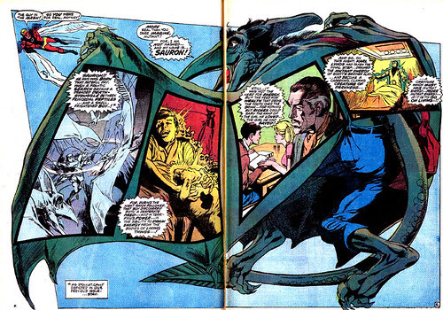 Double-page spread from Uncanny X-Men #61, by Neal Adams