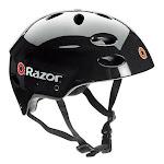 Razor V17 Youth Skateboard/Scooter/Bike Sport Helmet, Glossy Black | 97778 by VM Express