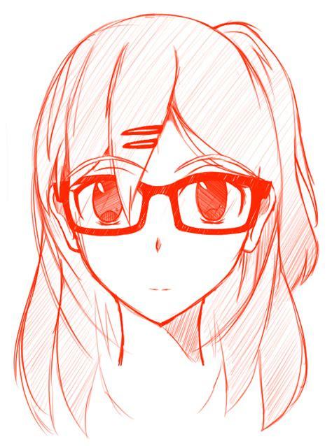 quick sketch girl  glasses  banababbq  deviantart