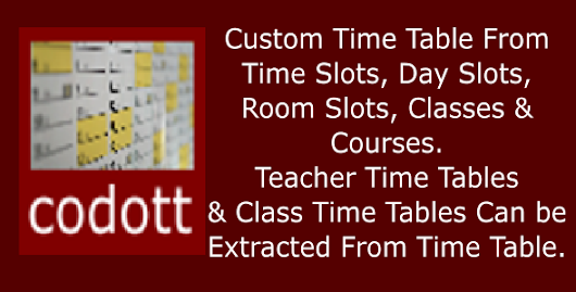 Codott Time Tables