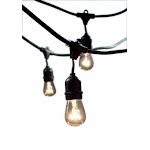 Bulbrite 810002 STRING15-E26-S14KT Outdoor String Light with Incandescent 11S14 Bulbs 48-Feet 15 Lights - Pack of 1