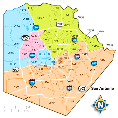 San Antonio Zip Code Map 2017 | Campus Map on