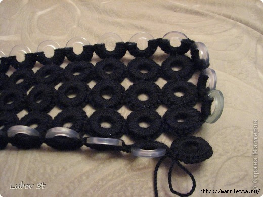 Handbag of the rings with beads.  Crochet without interrupting the thread (10) (520x390, 123Kb)