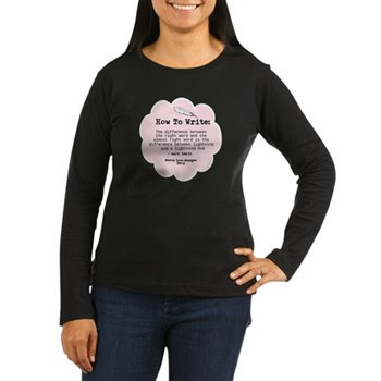 Mark Twain Write WWomen's Long Sleeve Dark T-Shirt