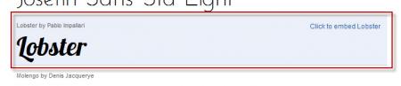 GFA Choose other font 450x97 Google Fonts API: Sử dụng phông chữ trực tiếp từ Google