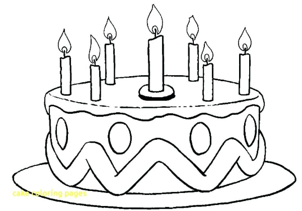 happy birthday torte zum ausmalen - malvorlagen