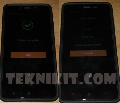 Install Recovery TWRP Redmi Note 2 Sukses
