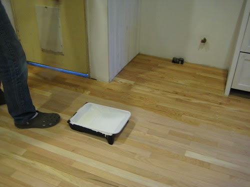 finishing the floor (1st coat)