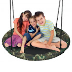 """40"""" Flying Saucer Tree Swing Outdoor Play Set with Adjustable Ropes Gift for Kids 
