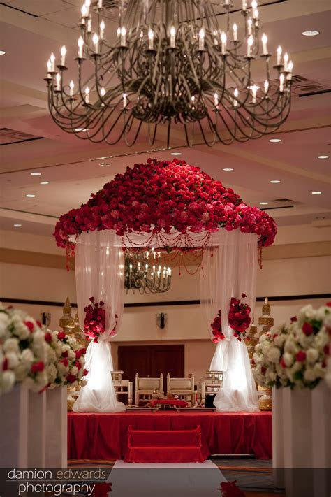Indian Wedding Altar, The Mandap stage was created with