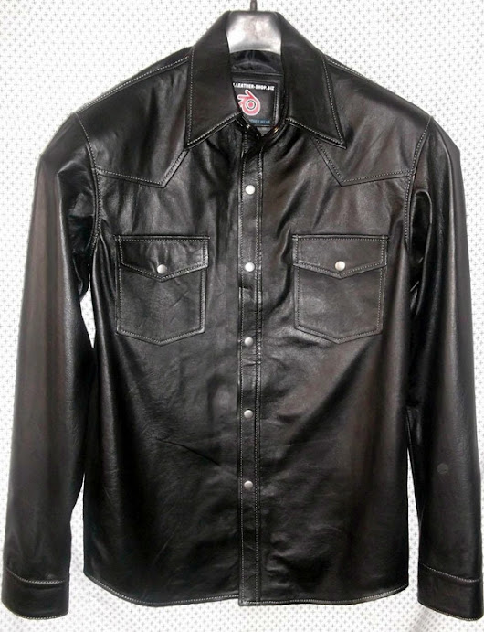 Lambskin Leather Shirt Custom Made Style LS014