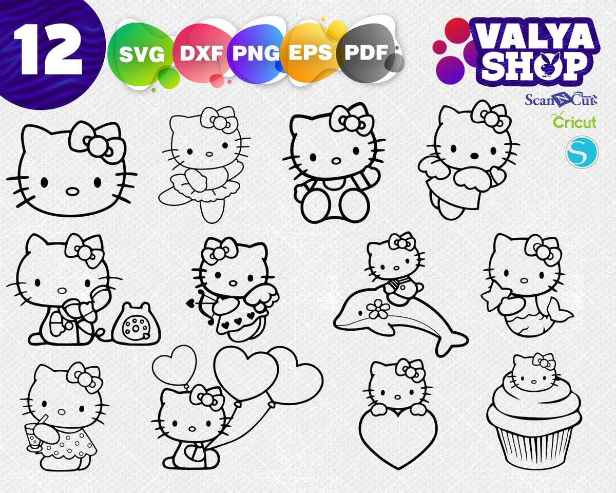 Download Hello Kitty svg, cute hello kitty svg file, svg cricut ...